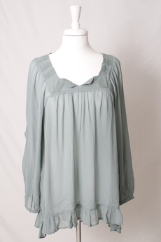 Cream - Alma Blouse Dusty Jade Green 50% REA