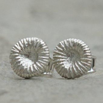 ag by Annika Gustavsson - Örhängen Fossil Silver Small