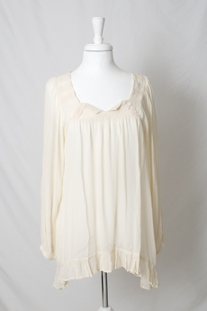 Cream - Alma Blouse Warm Off-white 50% REA