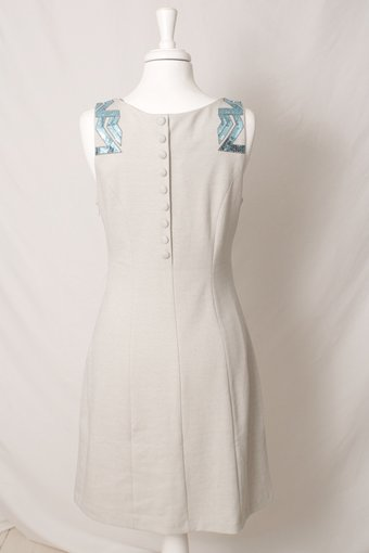 Cream - Velina Dress Sky Blue