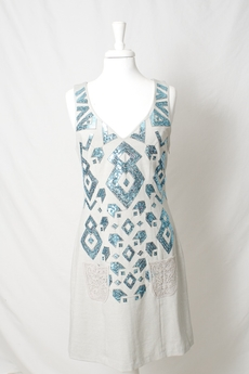 Cream - Velina Dress Sky Blue 50% REA