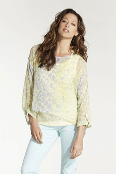 Cream - Moa Blouse Pastel Yellow 50% REA