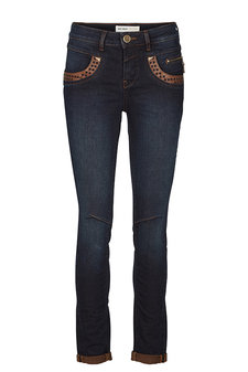 Mos Mosh - Naomi Square Leather Jeans Dark Blue Denim