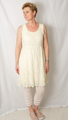 Cream - Klänning Annemone Lace off white 50% REA