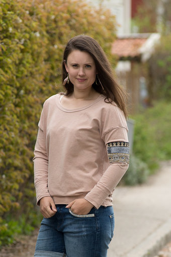OOTD - Sweatshirt Patch Picky Day Rosa Antico