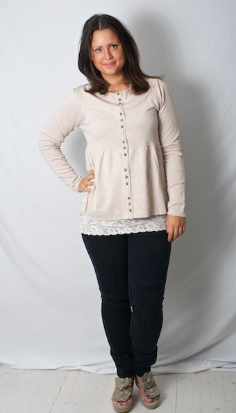by Ti Mo - ViscKnit Button Cardigan Latte