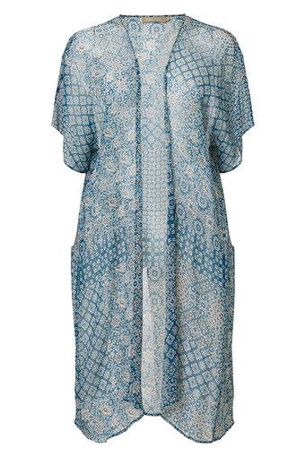 Plus Fine - Alda Kimono Dolphin Blue