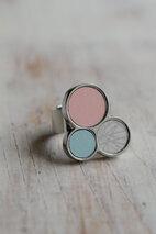 Sägen - Pastel Light Triple Ring