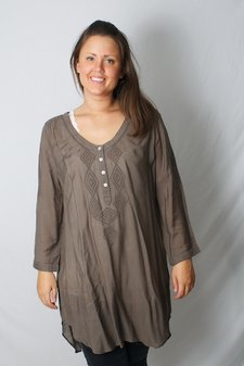 Culture - Zema Long Shirt Nature Brown
