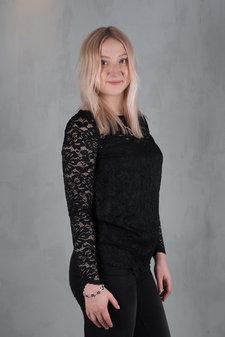 Rosemunde - Lace T-shirt ls Black