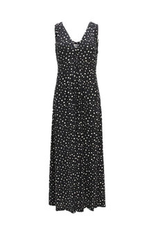 Isay - Mai Long Dress Navy Dots
