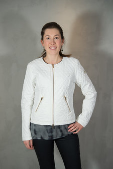 48-7 SWEDEN - Hanna Quiltjacket White