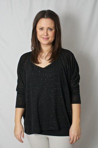 kaffe - Clarissa T-shirt Castor Black