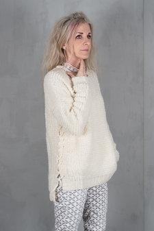 my Sunday Morning - Anikka Knitted Sweater Off white