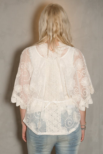 Frontrow - Uma Top Lace Off white
