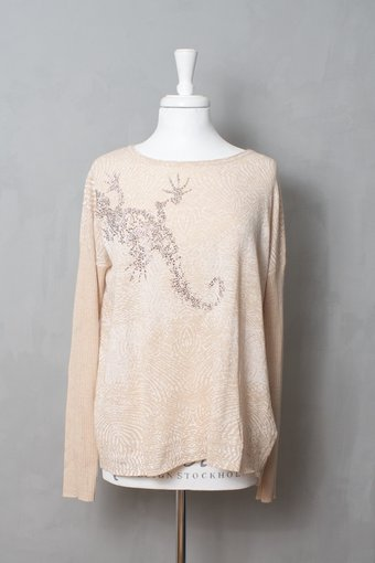 Culture - Neil Knit Blouse Milan Melange