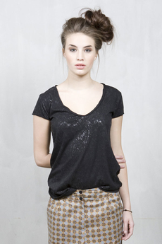 Vintage by Fé - Cassie Top Black