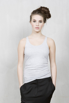 Vintage by Fé - Crystal Singlet Light Grey Melange